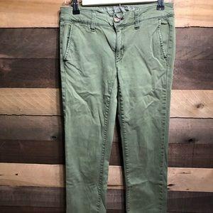 American Eagle Olive Green Women's Skinny Jeans 2
